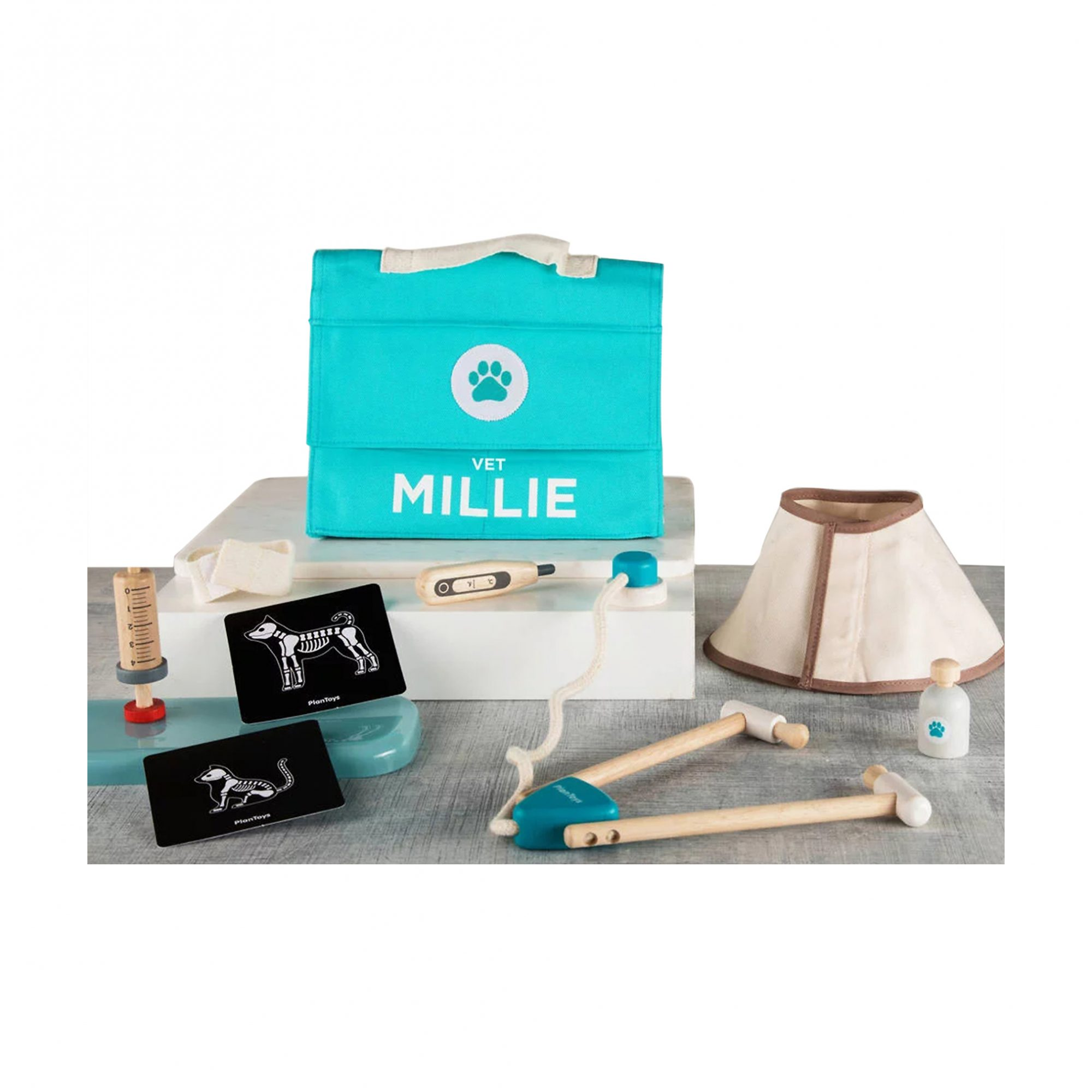 Cool gifts for kids - Personalized Wooden Vet Set Toy