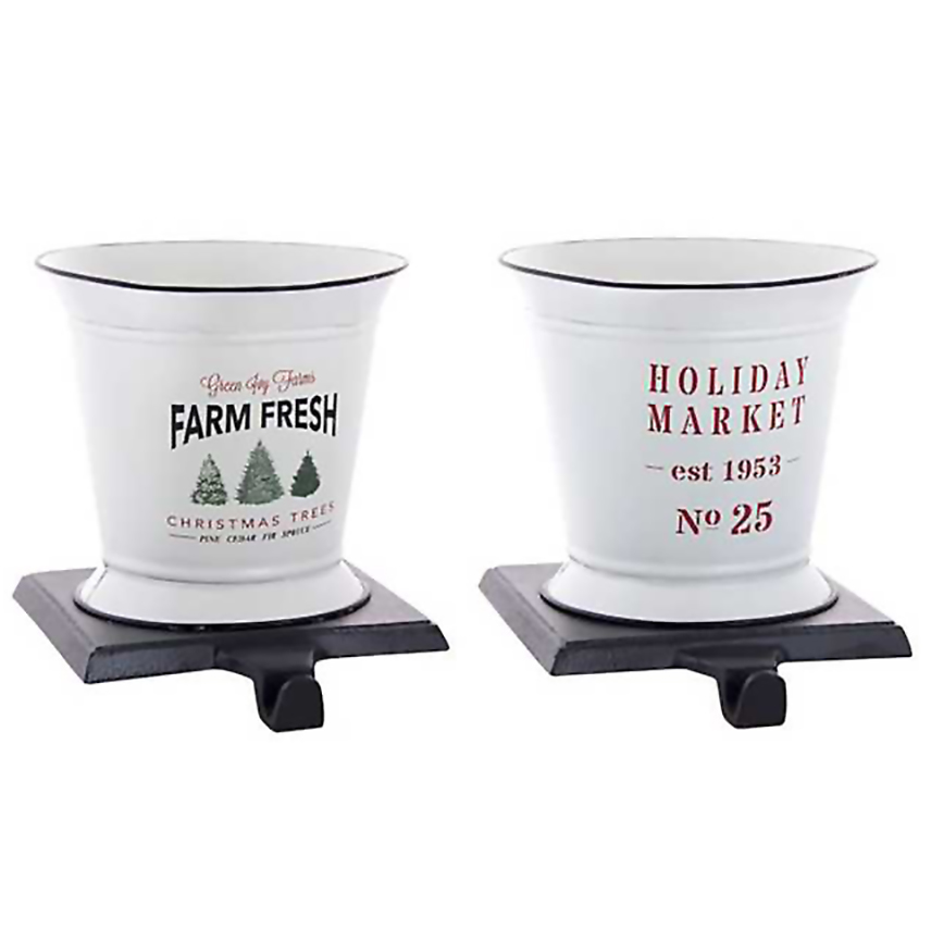 Christmas stocking holders - Kirkland's Farm Fresh and Market Stocking Holders