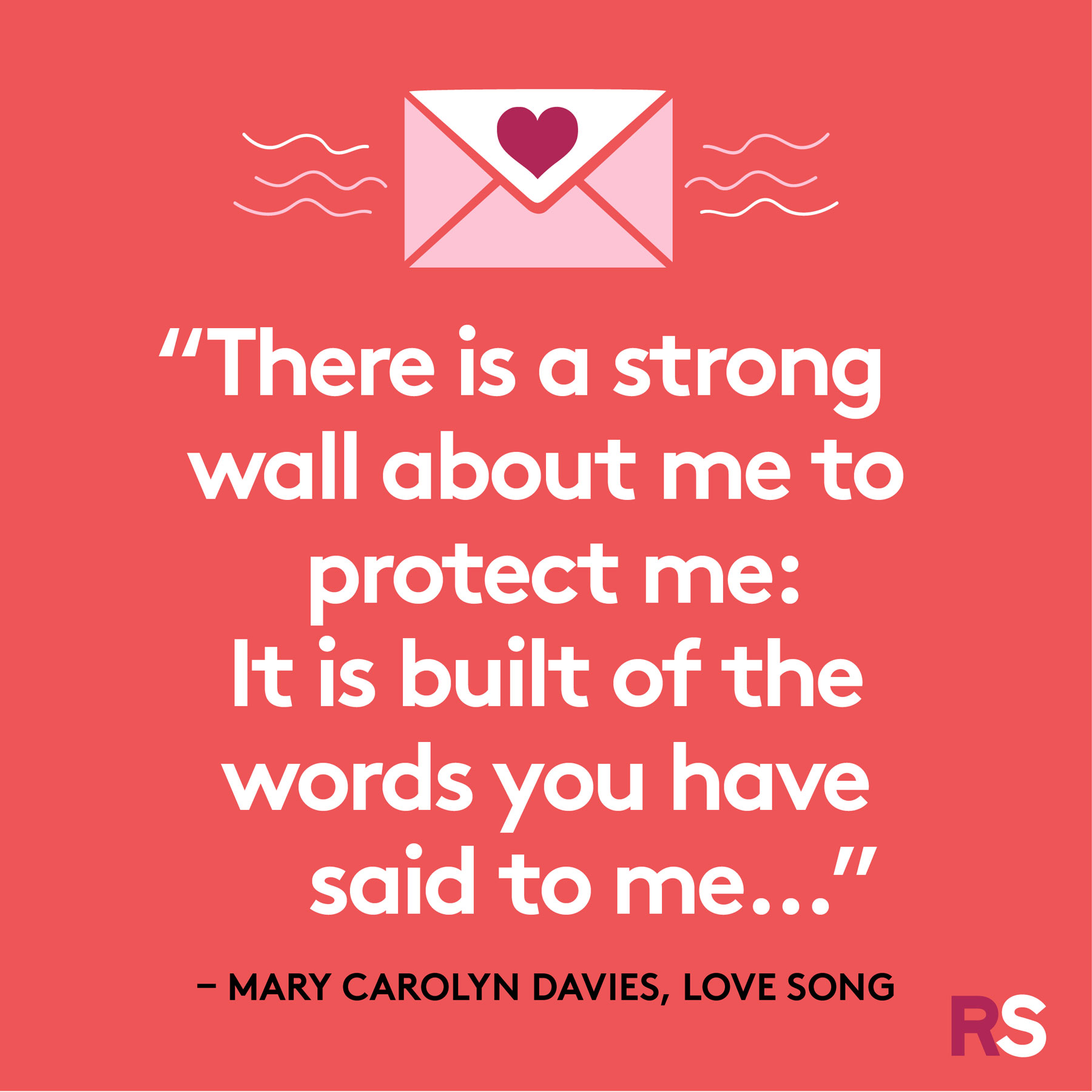 Love quotes, quotes about love - Mary Carolyn Davies, Love Song