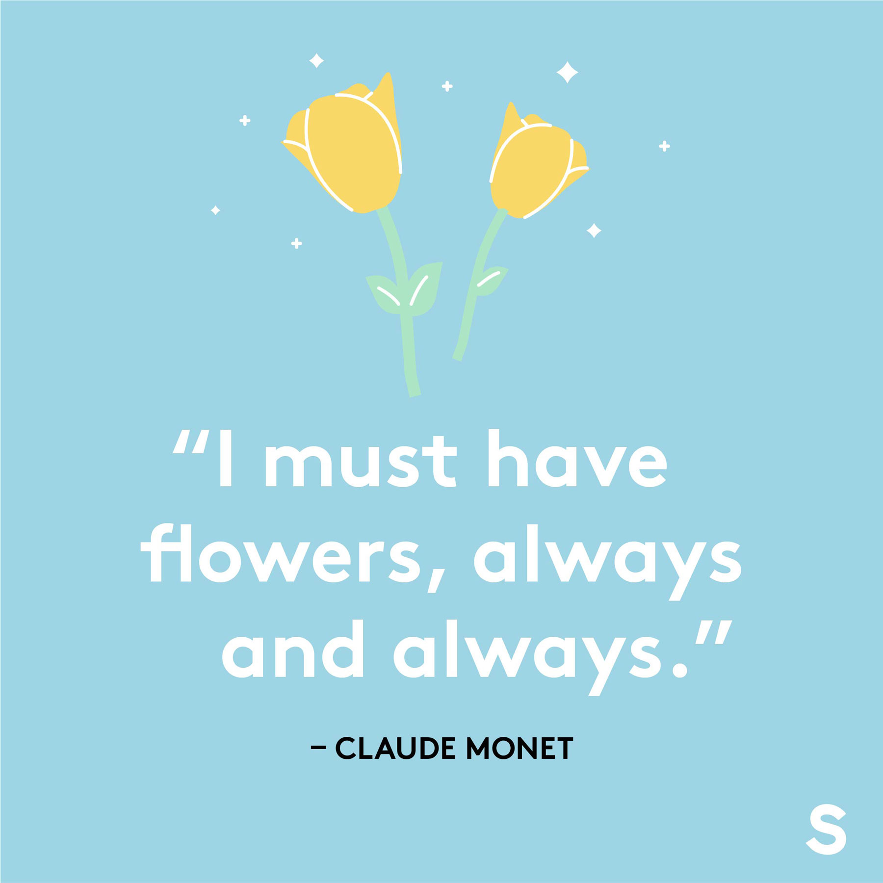 Easter quotes, captions, and messages - Claude Monet quote