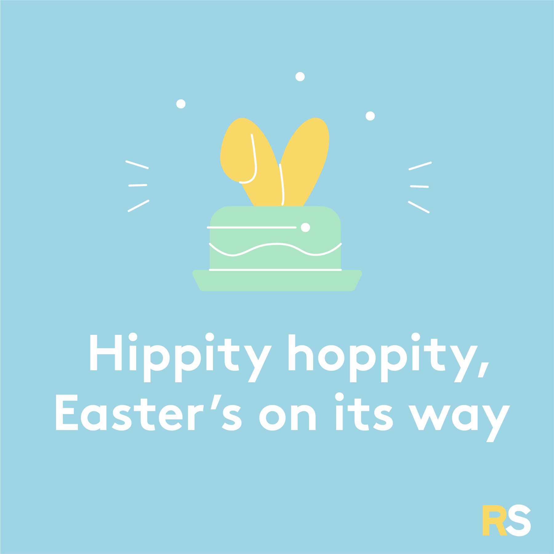 Easter quotes, captions, and messages - Hippity hoppity, Easter's on its way