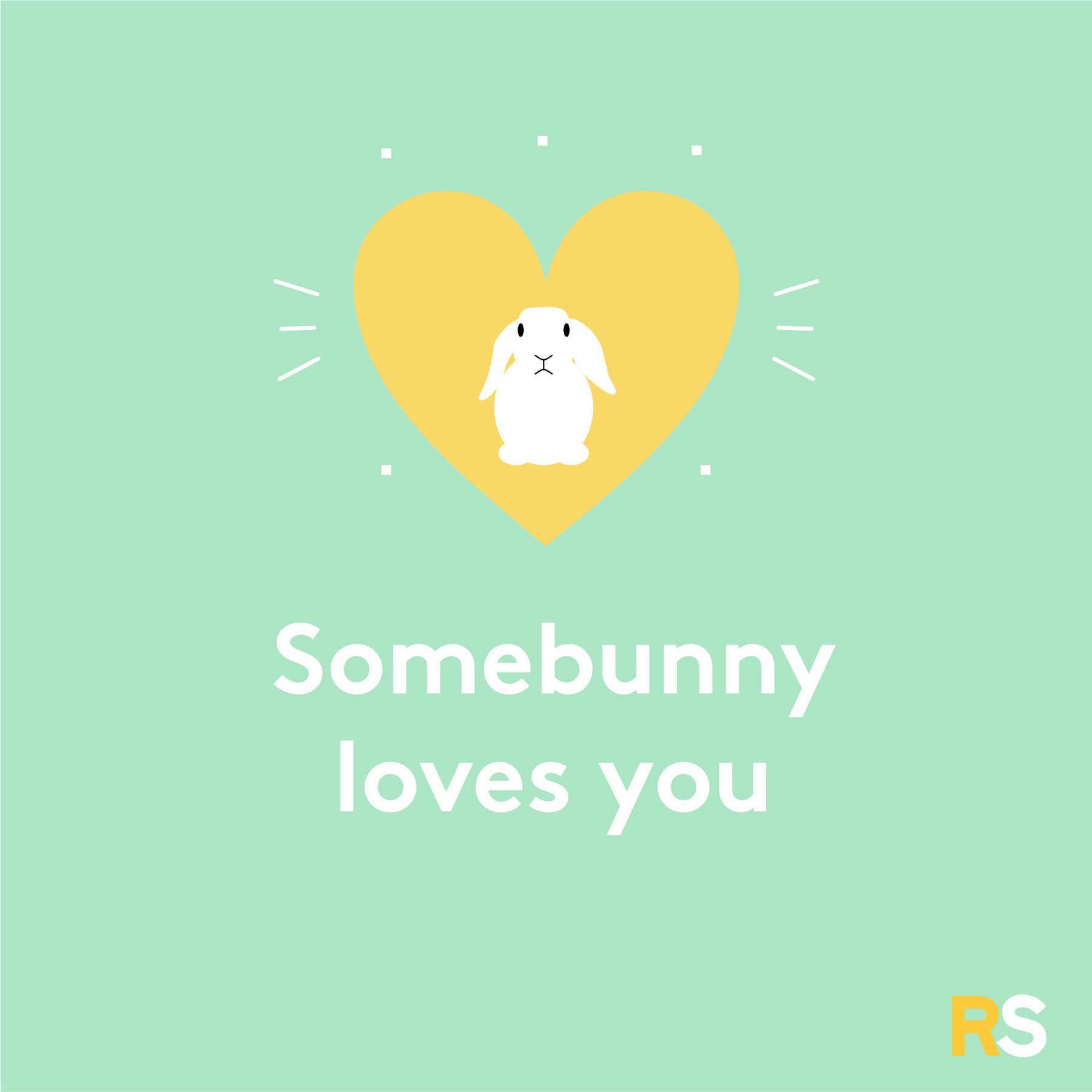 Easter quotes, captions, and messages - Somebunny loves you