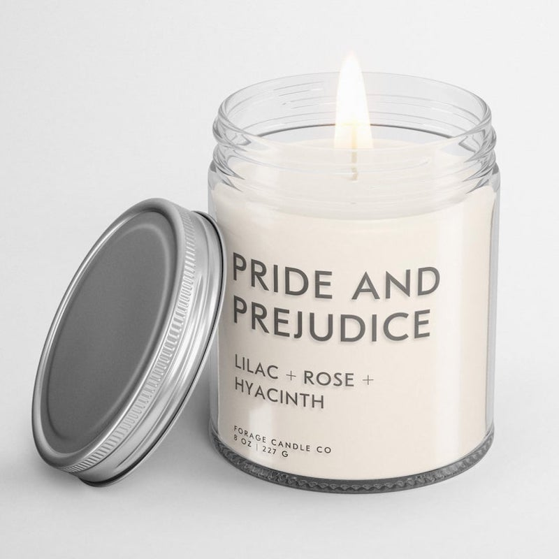 Literary candle Mother's Day gift
