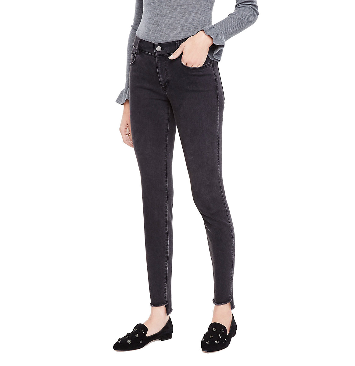 Ann Taylor Step Hem All Day Skinny Jeans