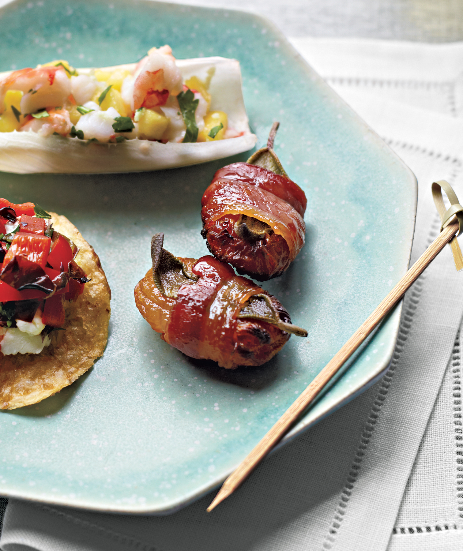 Bacon-Wrapped Apricots With Sage