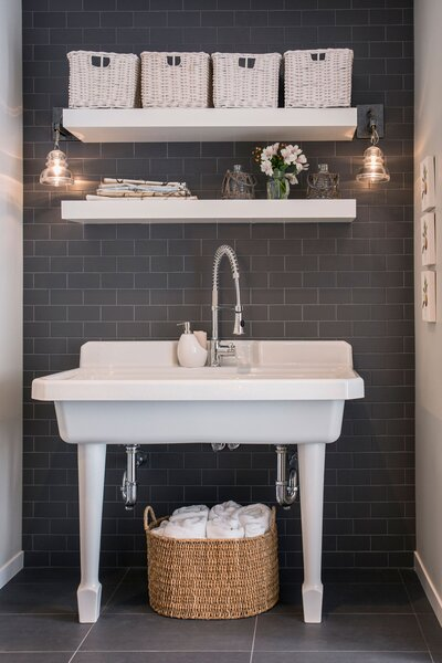 Bathroom Shelf Ideas Open Shelving Over Sink