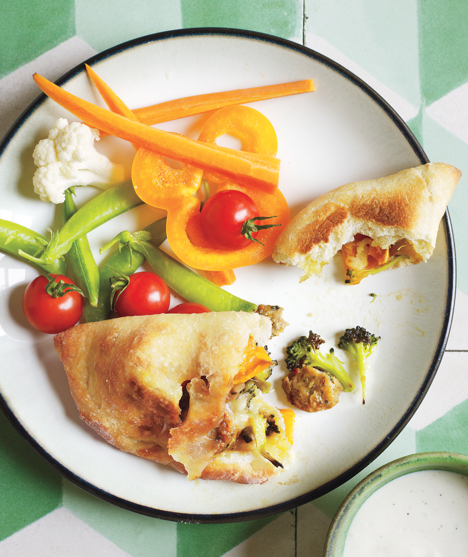 Chicken Sausage and Broccoli Pockets