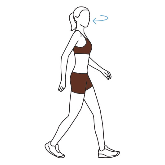 Illustration of a woman walking