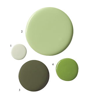 Green paint samples