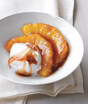 Caramelized Pineapple With Coconut Sorbet