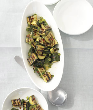 Grilled Zucchini Salad With Lemon and Scallions