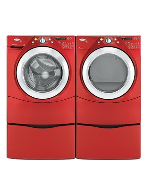 Whirlpool Red Duet Washer and Dryer