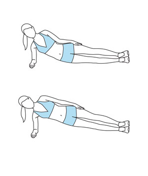 Illustration of the Side Plank exercise