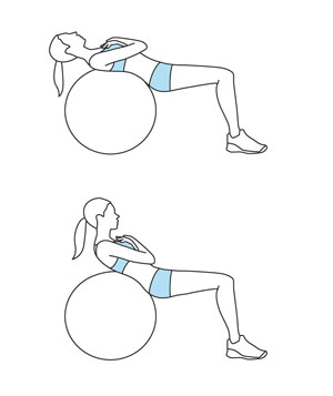 Illustration of the Stability-Ball Crunch exercise