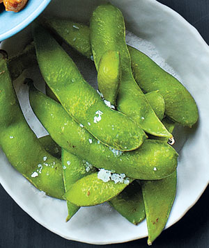 Steamed Edamame Tossed With Coarse Salt