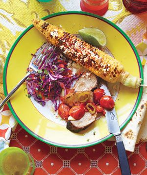 Grilled Ancho-Rubbed Pork With Smoky Tomato Salsa