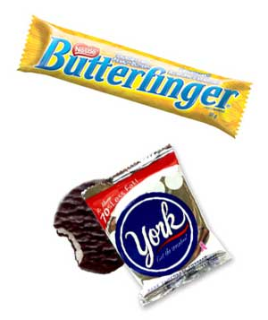 Butterfinger and York Peppermint Pattie