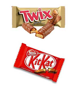 Twix and Kit Kat