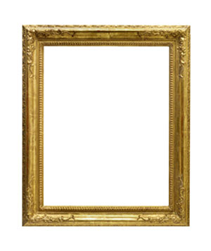 Large empty picture frame