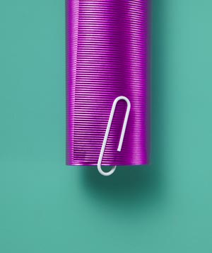 Paper clips as wrapping paper holder