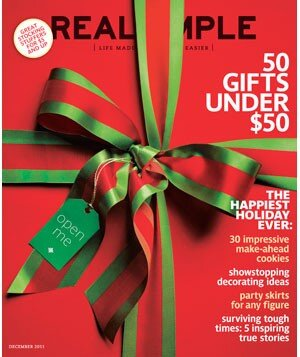 Featured in December 2011 - Real Simple