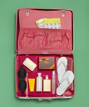 Suitcase as toiletry container