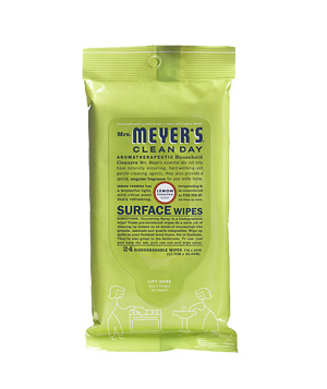 Mrs. Meyer's Clean Day surface wipes in Lemon Verbena