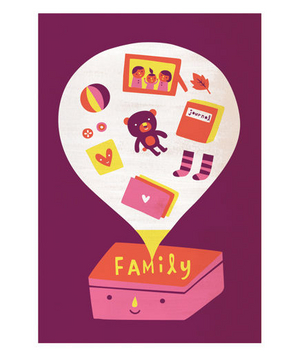 Illustration of a family time capsule