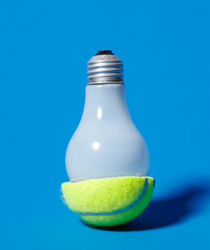 Tennis Ball as Light Bulb Remover