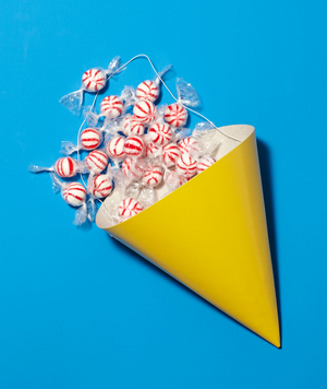 New use: party hat as candy dish