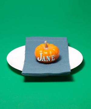 New use: pumpkin as place card