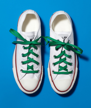 New use: ribbon as shoelaces