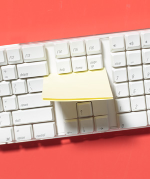 Sticky Note as Keyboard Cleaner