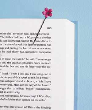 Bobby pin used as bookmark