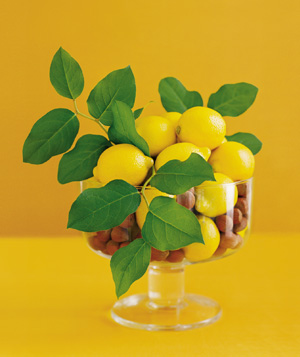Lemons used as decoration