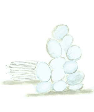 Illustration of cotton balls and cotton pads