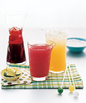 Pitchers of summer cocktails