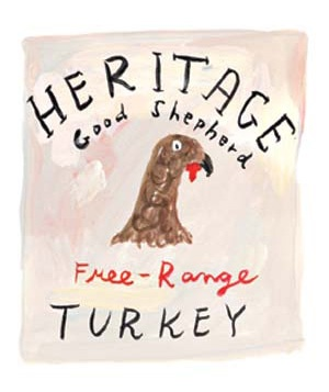 Illustration of a turkey label