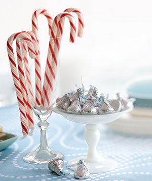 Candy canes & chocolate kisses