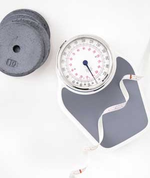 Weights, scale and a tape measure