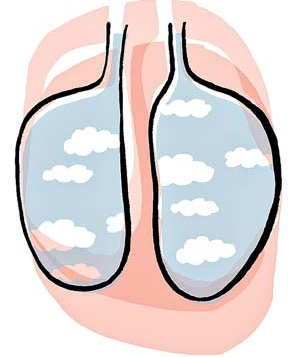 Lungs filled with air
