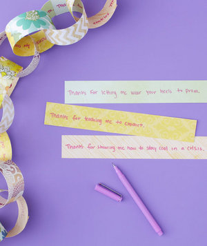 Memory links mother's day card