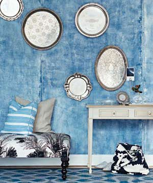 Decorating With Blue on living room with blues, bedroom interiors with blues, interior design with blues, kitchen with blues, painting with blues, rugs with blues,