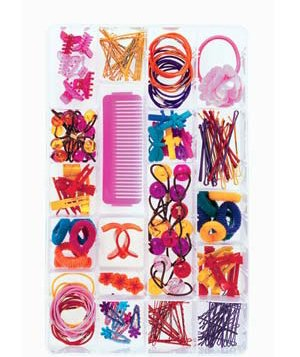 Box with hair accessories