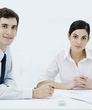 Business man and woman