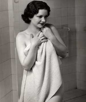 Woman in a towel