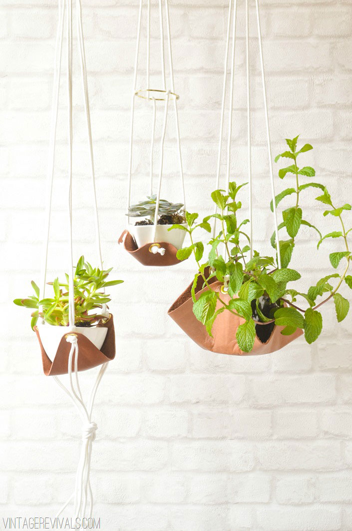 Leather Planters