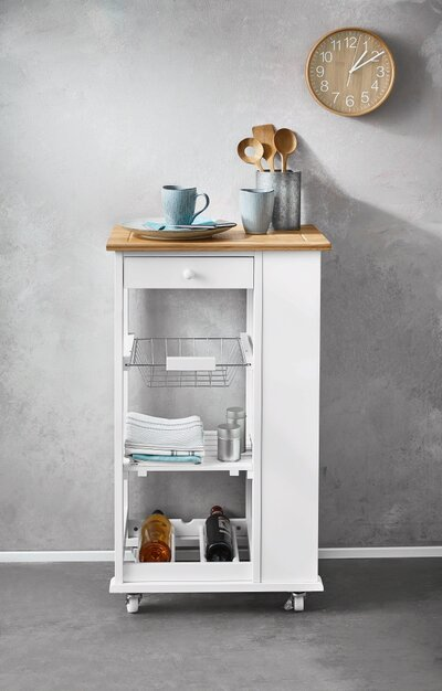 Lidl\'s New Kitchen Cart Has a Built-In Wine Rack—And It\'s ...