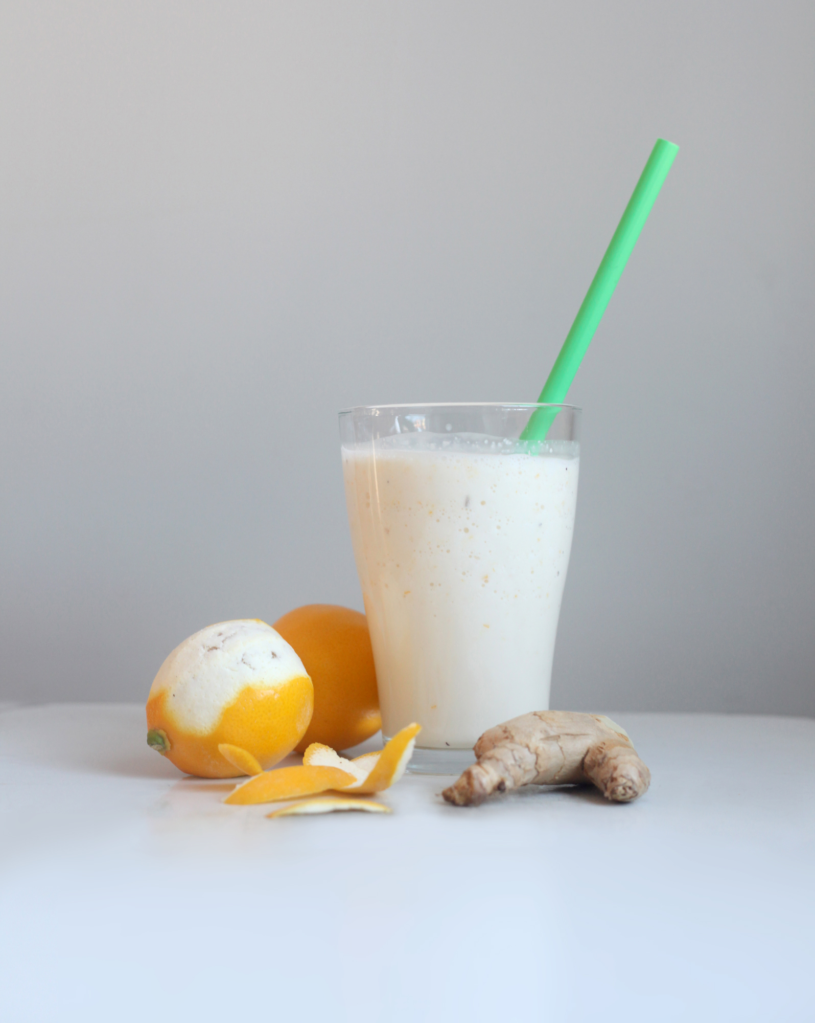 Meyer Lemon, Ginger, and Buttermilk Smoothie