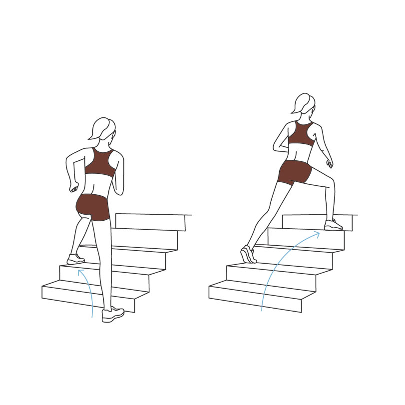 Stairway Workout: skater steps